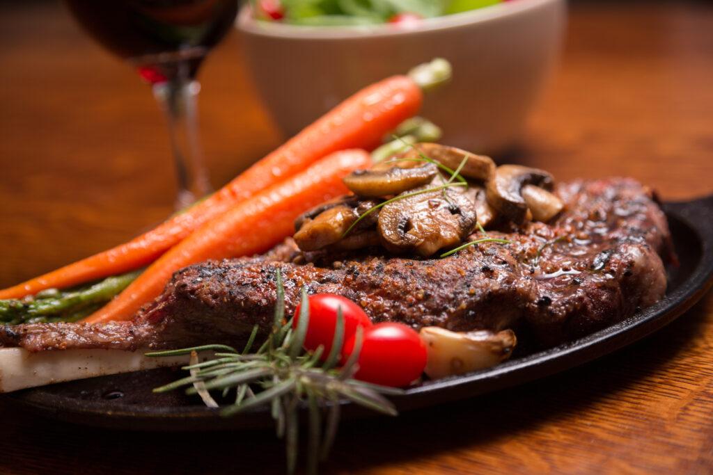 Rib Eye Steak with mushrooms